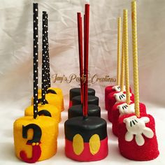 Mickey Mouse chocolate covered marshmallows