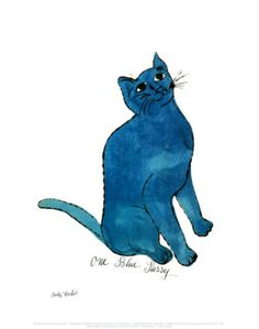 One Blue Pussy, c.1954 Print by Andy Warhol at Art.com