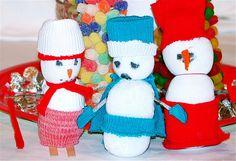 sock snowpeople
