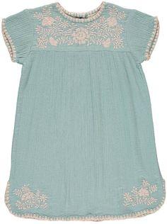 LOUIS LOUISE NoÃmie Embroidered Cotton Crepe Dress