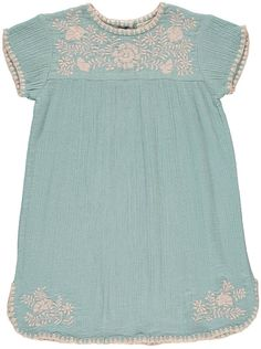 LOUIS LOUISE NoÃmie Embroidered Cotton Crepe Dress