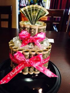 birthday cake made with money - Google Search