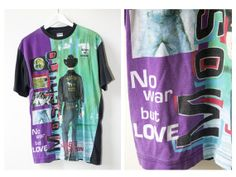 90s Moschino TShirt No War But Love Ready To by NOTHINGSPECIALETSY, £60.00