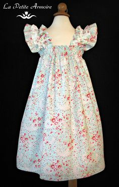 Girls handmade dress church wedding spring by ThePetiteArmoire, $65.00