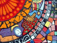 Mosaic Tile Table Metropolitan Funky Art Deco Fiesta by cocomo