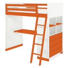 Room & Board - Moda Loft Bed with Middle Desk and One Four-Drawer Dresser