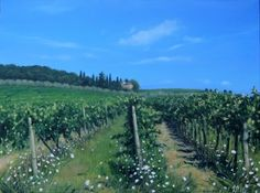 """ Summer in the Vineyard"" Oil Painting by Francesca Pratellesi cm 60x80"