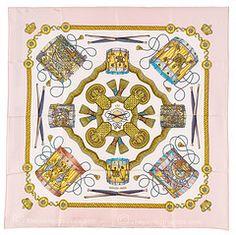 Hermes scarf - Tambours by Joachim Metz Pink