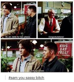 Sassy Sam. #supernatural