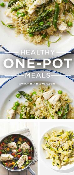 "Healthy One-Pot Meals | Martha Stewart Living - We're totally behind a healthy and sensible ""everything in moderation"" approach to eating, with an emphasis on whole, unprocessed foods. An easy route to healthy meals is to make dinner in just one pot. Here are some of our favorite recipes."