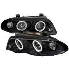 Spec-D LHP-E46994JM-TM | 2000 BMW 3 Series Chrome/Clear Halo Projector Headlights for Coupe/Sedan/Wagon