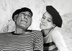 Anthony Quinn and Anna Karina - Eve Arnold - 1967