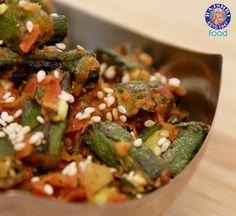 Bhindi Masala - Spicy Okra - Vegetarian Recipe by Ruchi Bharani