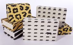 Office stationery in jungle prints