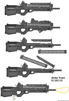 Sci Fi Weapons, Weapon Concept Art, Fantasy Weapons, Weapons Guns, Rifles, Guns Dont Kill People, Future Weapons, Cool Guns, Assault Rifle