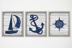 Rustic Nautical Decor Nautical Art Prints Coastal Wall