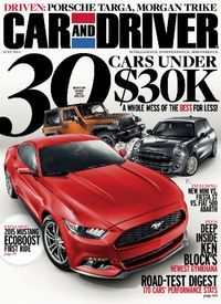 Car and Driver magazine 30 cars under 30 thousand 2015 Mustang Ecoboost Gymkhana Car Magazine, Digital Magazine, Magazine Covers, 2015 Mustang Ecoboost, Popular Mechanics, Car And Driver, Porsche, Classic Cars, Magazines
