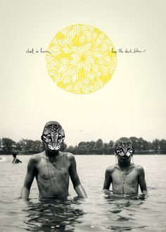mixing photography with illustration #poster #design #inspiration #graphic #creative #typography #photo #weird #yellow