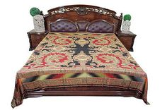 MOROCCAN-BEDDING-PASHMINA-WOOLEN-RED-BLACK-PAISLEY-BEDSPREAD-BED-COVER-KING-SIZE      http://stores.ebay.com/mogulgallery/BEDSPREADS-/_i.html?_fsub=353416419&_sid=3781319&_trksid=p4634.c0.m322