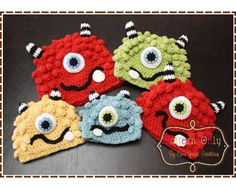 Monster Hat Crochet Pattern BRONSTER & by EmieGraceCreations. These would be great for our Halloween donation.