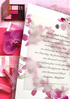 Beautiful vellum invitation