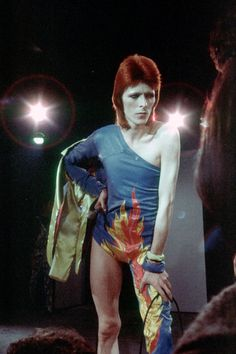 David Bowie, 1973: Performing as Ziggy Stardust.