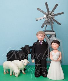 lol!!If only it was a donkey. :D Farm Wedding Cake Topper