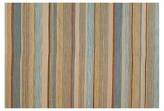 Aiden Rug, Multi on OneKingsLane.com  6 x 9 $399  wool-aqua/beige/rust