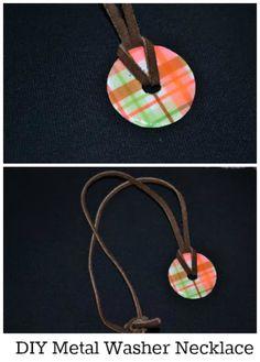 DIY Metal Washer Necklace #craft