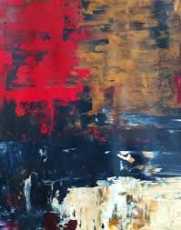 Image result for paintings with blue red and brown