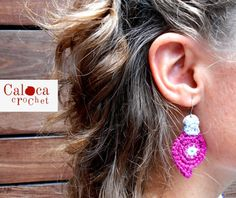 2 crochet earring patterns: two different by CalocaCrochet on Etsy