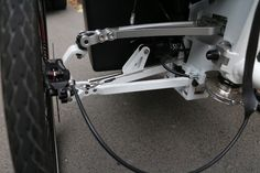 Detail of veleon cargo bike steering