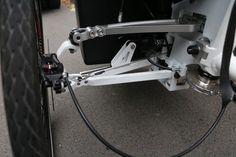 Detail of veleon cargo bike steering