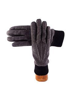 Wool and lambskin handmade Capri Gloves. For Man.