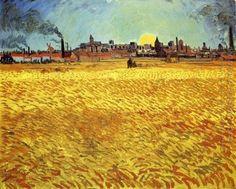 Summer Evening, Campo di grano con Sole