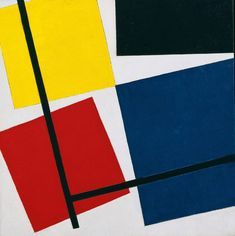 Theo van Doesburg, Simultaneous Counter Composition, 1929-30, Museum of Modern Art, New York. The Sidney and Harriet Janis Collection, 1967 © MoMA, Oil on canvas, 501 x 498 mm