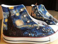 Starry Night Custom Converse All Stars by ArkhamPrints on Etsy #promshoesconverse