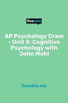 Ap Psychology, Cognitive Psychology, College Board, Clinic, Study, The Unit, Education, Studio, Studying