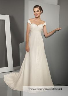 wedding dress ..idea for adding cap sleeves??