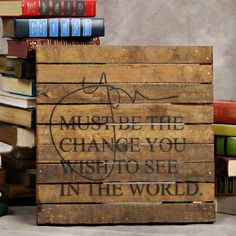 "iThe Message: You must be the change you wish to see in the world. ibrbrliDimensions: 14""w x 14""hlibrbrThis line features products that have been hand crafted. Small differences in s..."