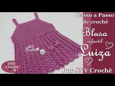 PAP Blusa de crochê infantil Luiza (6 a 8 anos) por JNY Crochê - YouTube