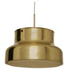 """Ateljé Lyktan Ceiling Pendant """"Bumling"""" in Brass   From a unique collection of antique and modern chandeliers and pendants at https://www.1stdibs.com/furniture/lighting/chandeliers-pendant-lights/"""