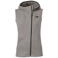 The North Face Women's Haldee Hooded Vest ($99) ❤ liked on Polyvore featuring outerwear, vests, zip vest, the north face, knit vest, zipper vest and hooded vest