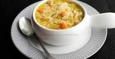 This Turkey Orzo Soup is a perfect use for leftover Thanksgiving turkey. I love that the cooler weather is approaching. It means more soup like this Turkey Orzo Soup. I will purposely buy a whole turkey or just the breast and roast it on a Sunday afte. Shrimp Recipes, Turkey Recipes, Soup Recipes, Sausage Recipes, Cooking 101, Cooking Recipes, Healthy Recipes, Healthy Foods