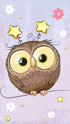 Ideas For Wallpaper Iphone Funny Ideas Tier Wallpaper, Owl Wallpaper, Drawing Wallpaper, Animal Wallpaper, Iphone Wallpaper, Doodle Drawings, Animal Drawings, Cute Drawings, Cute Owl Drawing