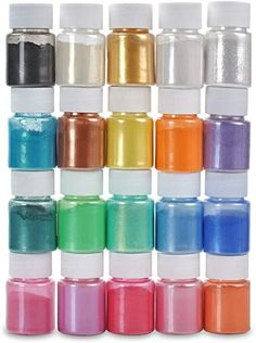 Dewel Mica Powder - 20 Colors Each - Slime Pigment Supply Pearl for Bath Bomb/Soap Making/Epoxy Resin Dye/Colorant DIY Craft Cool School Supplies, Craft Supplies, Faux Fur Bean Bag, Galaxy Slime, Slime Shops, Kids Makeup, Glitter Crafts, Diy Slime, Cake Decorating Tools