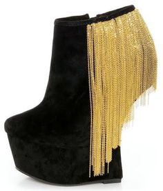 Shoe of the Day | Privileged Moks Chain Dangling Heelless Platform Bootie