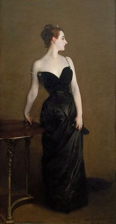 Famous artist and portrait painter John Singer Sargent was known for painting wealthy aristocrats as well as the controversial painting: Madame X. Other oil portraits by John Singer Sargent include the famous Lady Agnew of Lochnaw. Portrait Of Madame X, Victorian Paintings, Oil Portrait, Painting Portraits, Portrait Ideas, Famous Artists, Satin Dresses, Dress For You, Lady