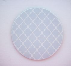 mousepad / Mouse Pad / Mat round  or rectangle - Trellis in light gray - desk computer coworker gift accessory decor