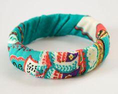 Fabric Wrapped bottle Bracelet